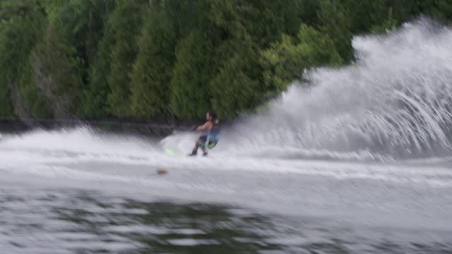 Amateur Teenage Slalom Waterskiing Waterskier