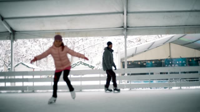 amateur winter sports - pirouette stock videos and b-roll footage