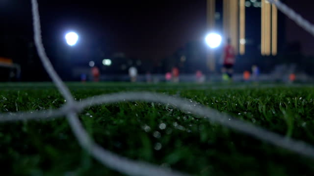 amateurs playing soccer outdoors - soccer player stock videos & royalty-free footage