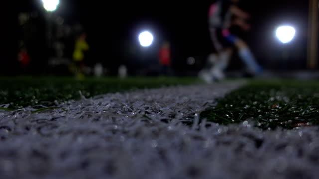 屋外サッカー素人 - カーテン レース点の映像素材/bロール
