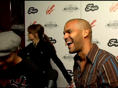 amaury nolasco on fergies birthday her songs finshing shooting the first season of prison break and on how the show is going at the birthday... - prison break stock videos & royalty-free footage