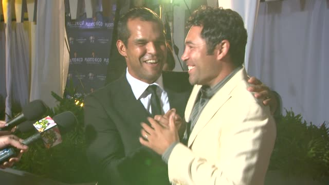 amaury nolasco, oscar de la hoya at the amaury nolasco & friends golf classic and award ceremony celebration at guaynabo . - oscar de la hoya stock videos & royalty-free footage
