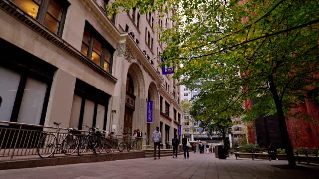 amazing alley near new york university - new york university stock videos & royalty-free footage