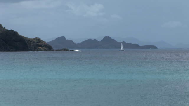 amazing beach, st barth - french overseas territory stock videos & royalty-free footage