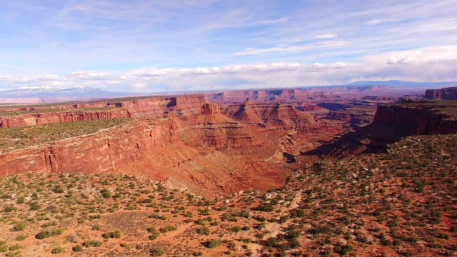 aerial amazing canyon surrounded with sedimentary rocks - national landmark stock videos & royalty-free footage