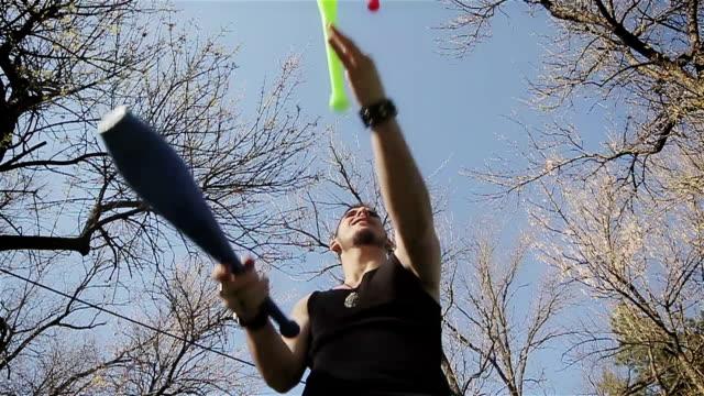 amazing juggling skills - juggling stock videos & royalty-free footage