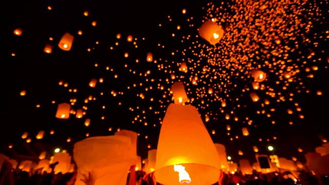 Fantastische Loi Kra Tong festival in Thailand