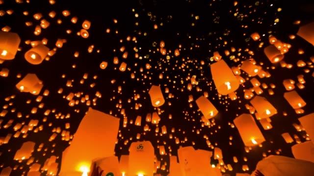 Geweldige Loi Kra Tong festival in Thailand