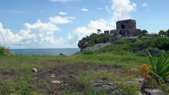 amazing mayan ruin in tulum mexico - latin american civilizations stock videos and b-roll footage