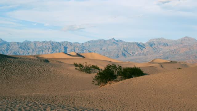 令人驚歎的沙丘在莫哈韋沙漠-加利福尼亞州-美國 - 自然奇觀 個影片檔及 b 捲影像
