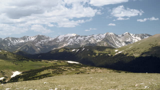amazing shadows; on top of the rocky mountain national park mountain range at 14000 feet (time lapse), colorado, united states - colorado stock videos & royalty-free footage