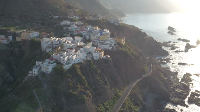 Amazing small village sitting on the edge of a cliff in El Draguillo, Tenerife.