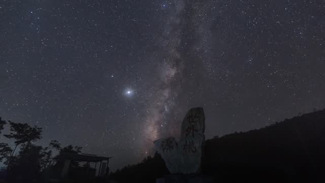 amazing time lapse video of the milky way above miao village scenic spot. congjiang county, guizhou province. footage by costfoto / barcroft studios... - star field stock videos & royalty-free footage