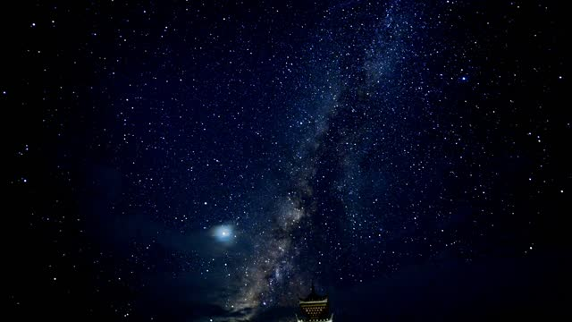 amazing time lapse video of the milky way above miao village scenic spot. congjiang county, guizhou province. footage by costfoto / barcroft studios... - galaxy stock videos & royalty-free footage
