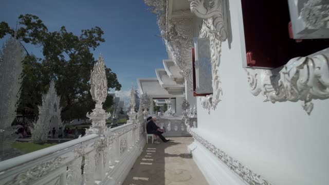 amazing wat rong khun (white temple), chiang rai, northern thailand, thailand, southeast asia, asia - thailand stock videos & royalty-free footage
