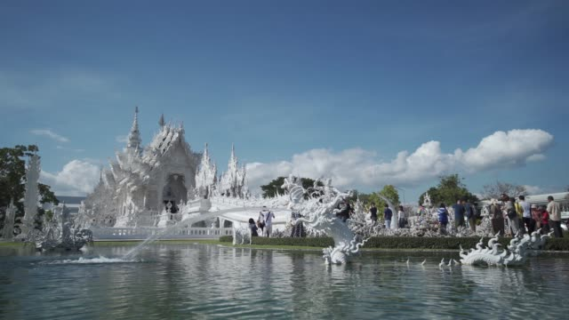 amazing wat rong khun (white temple), chiang rai, northern thailand, thailand, southeast asia, asia - animal representation stock videos & royalty-free footage