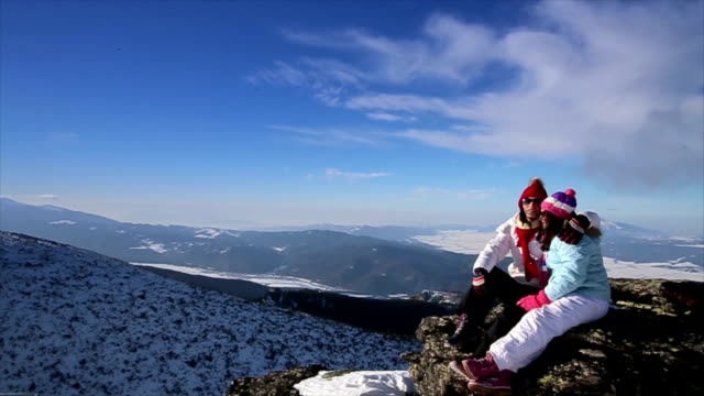 amazing winter family vacations - pinaceae stock videos & royalty-free footage