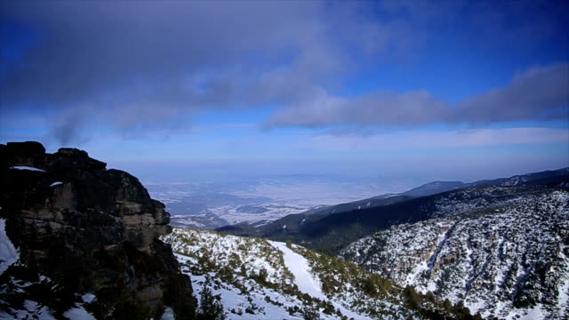 Amazing winter landscape on the top of the mountain