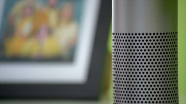 amazon echo activates it's light - voice stock videos & royalty-free footage