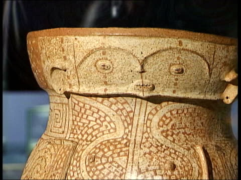 amazon exhibition at the british museum pottery on display - ancient stock videos & royalty-free footage