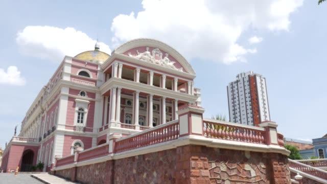 vídeos de stock, filmes e b-roll de amazon opera house (teatro amazonas) - tradição