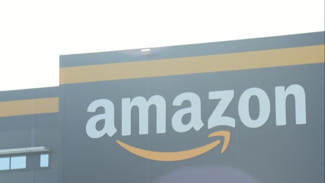 amazon shuts its warehouses in france after being ordered by the government to limit deliveries to essential products - trade union stock videos & royalty-free footage