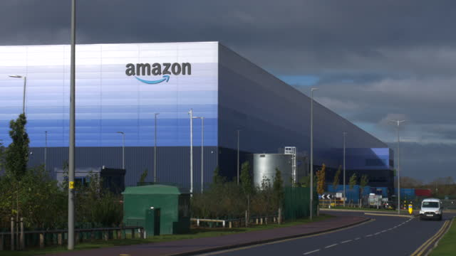 amazon warehouse at milton keynes, buckinghamshire, england. - employment issues stock videos & royalty-free footage