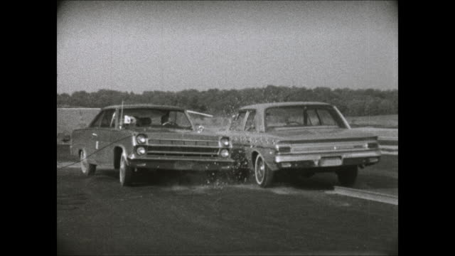1966 amc ambassador rear fender crash test footage - crash test stock videos & royalty-free footage