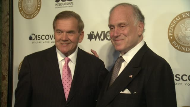 ambassador ronald s. lauder receives lifetime achievement award at the federal enforcement homeland security foundation at the plaza hotel on april... - 生涯功労賞点の映像素材/bロール
