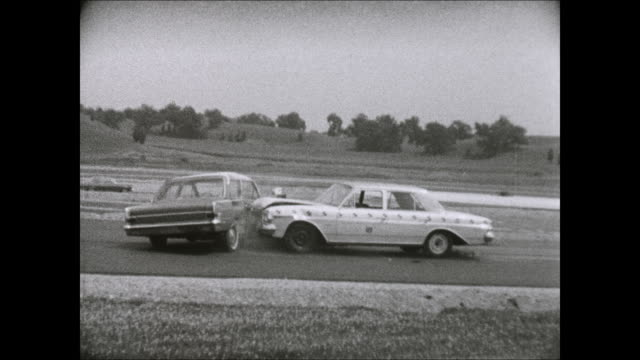 1969 amc ambassador side-impact crash test - crash test stock videos & royalty-free footage