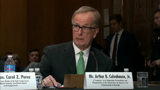 Ambassador to Australia nominee Arthur Culvahouse admits before the Senate Foreign Relations Committee that he needs to learn more about the quad...