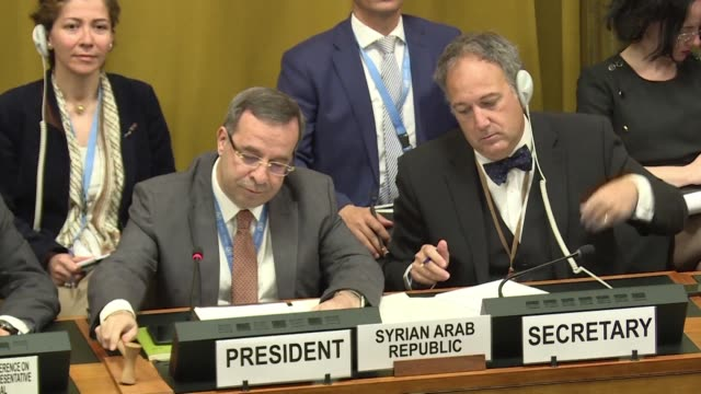 US ambassador to the Disarmament Conference Robert Wood starts a protest against Syria taking over this UN body calling it a travesty at a time when...