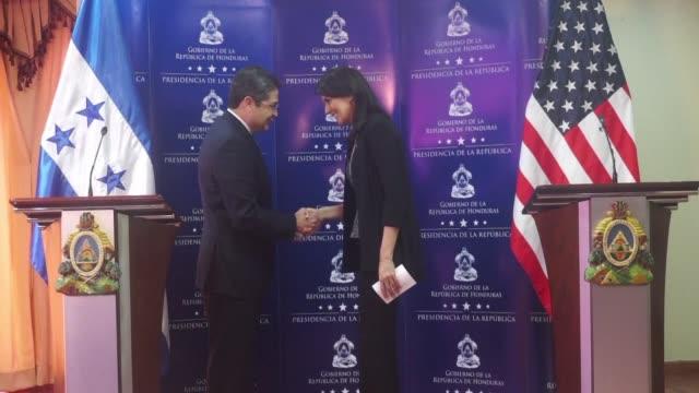 US Ambassador to the UN Nikki Haley met with Honduran president Juan Orlando Hernandez Tuesday in the country's capital Tegucigalpa