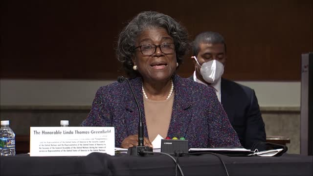 ambassador to the united nations nominee linda thomas greenfield says in statement to senate foreign relations committee at her nomination hearing... - only girls stock videos & royalty-free footage