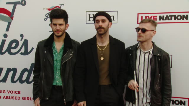 X Ambassadors Adam Levin Casey Harris and Sam Harris at Steven Tyler's 2nd Annual GRAMMY Awards Viewing Party to Benefit Janie's Fund in Los Angeles...