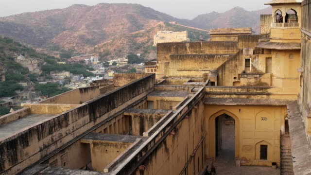 Amber Fort interior and view towards the rear side