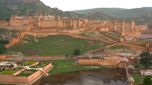 amber fort near jaipur in rajasthan, india - history stock videos & royalty-free footage