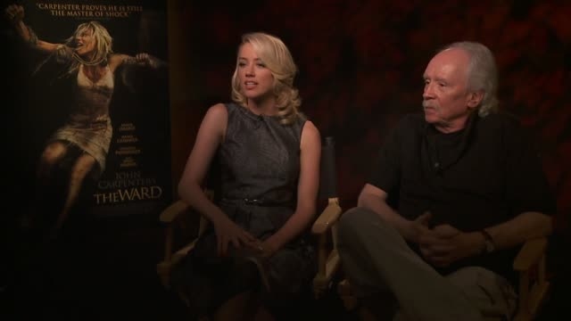 Amber Heard and John Carpenter on if the the role was demanding on her at the John Carpenter's 'The Ward' Press Day at Los Angeles CA