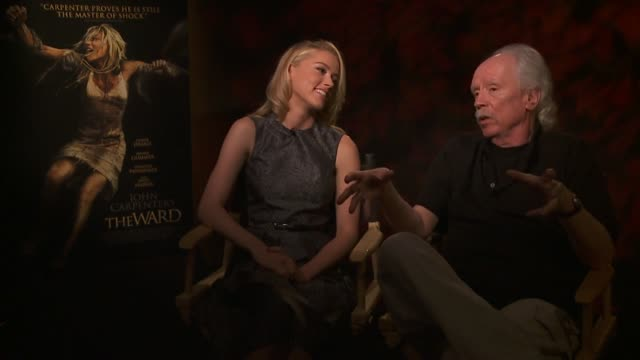 Amber Heard and John Carpenter on what the ingredients for a good movie at the John Carpenter's 'The Ward' Press Day at Los Angeles CA