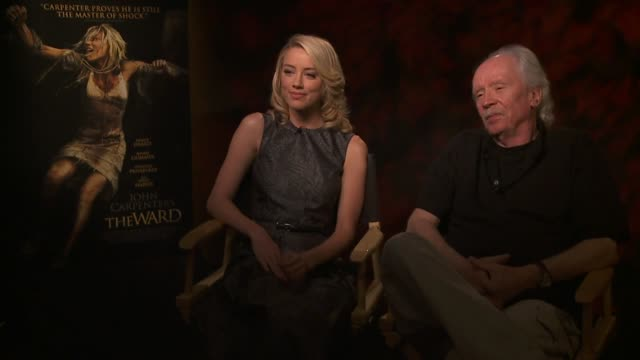 Amber Heard and John Carpenter on why he wanted to make this film at the John Carpenter's 'The Ward' Press Day at Los Angeles CA