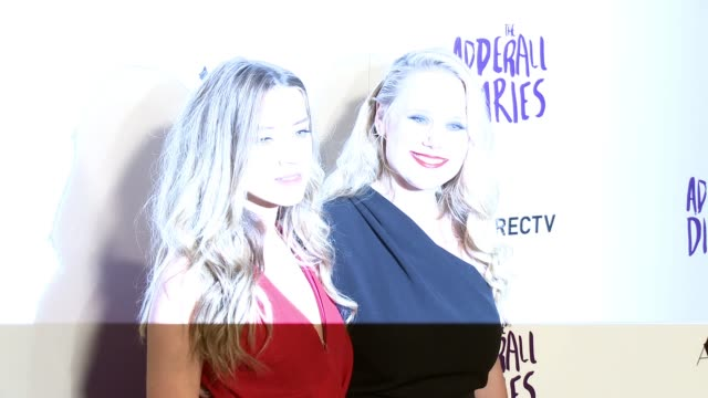 Amber Heard and Pamela Romanowsky at 'The Adderall Diaries' Los Angeles Premiere at ArcLight Hollywood on April 12 2016 in Hollywood California