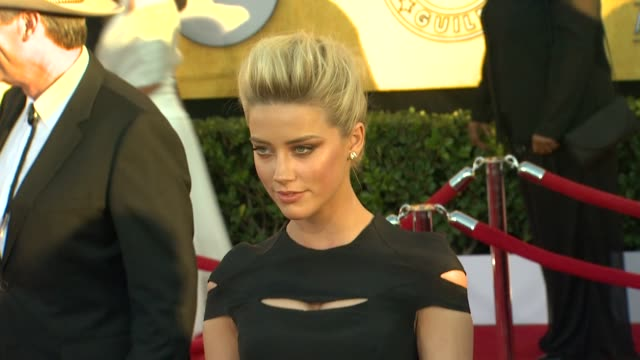 Amber Heard at 18th Annual Screen Actors Guild Awards Arrivals on 1/29/12 in Los Angeles CA