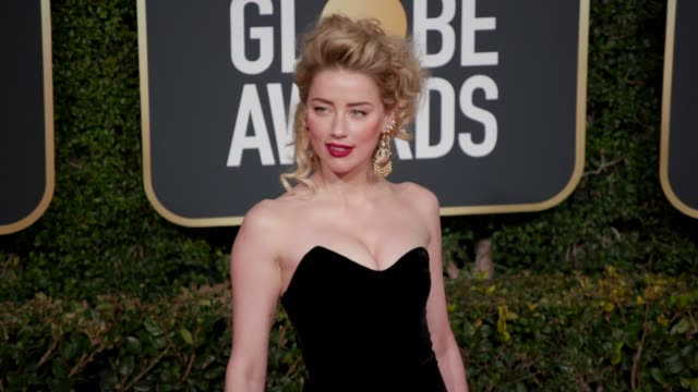 Amber Heard at 76th Annual Golden Globe Awards Arrivals in Los Angeles CA 1/6/19 4K Footage