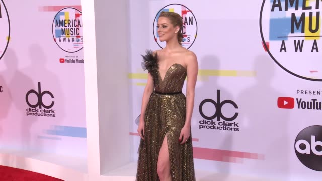 Amber Heard at the 2018 American Music Awards at Microsoft Theater on October 09 2018 in Los Angeles California