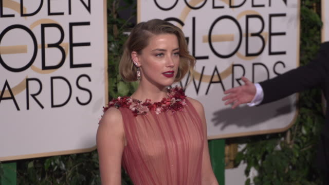 Amber Heard at the 73rd Annual Golden Globe Awards Arrivals at The Beverly Hilton Hotel on January 10 2016 in Beverly Hills California 4K