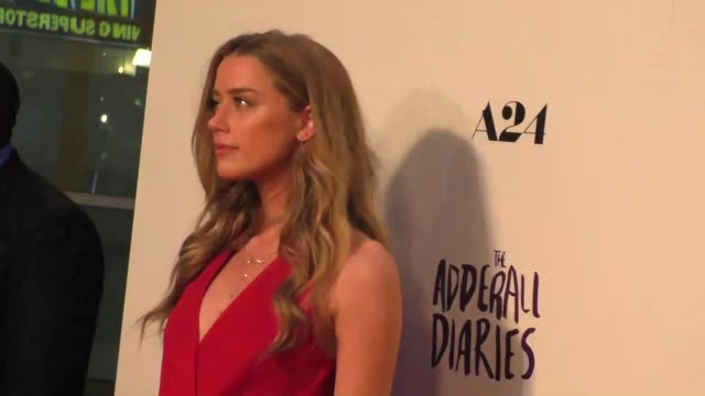Amber Heard at the A24/DIRECTV's The Adderall Diaires Premiere at ArcLight Theatre in Hollywood in Celebrity Sightings in Los Angeles