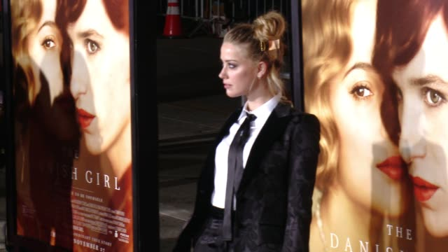 """Amber Heard at """"The Danish Girl"""" Los Angeles Premiere Presented by Focus Features in Los Angeles CA"""