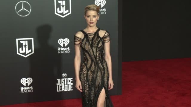 Amber Heard at the 'Justice League' World Premiere at Dolby Theatre on November 13 2017 in Hollywood California