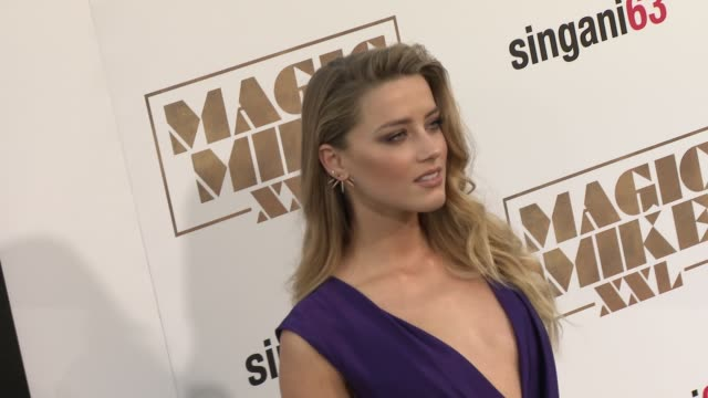 Amber Heard at The Los Angeles World Premiere of Warner Bros Pictures' 'Magic Mike XXL' at TCL Chinese Theatre on June 25 2015 in Hollywood California