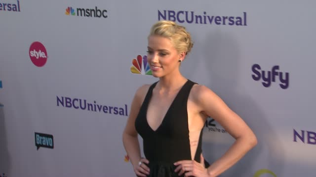 Amber Heard at the NBC Universal Press Tour AllStar Party at Los Angeles CA